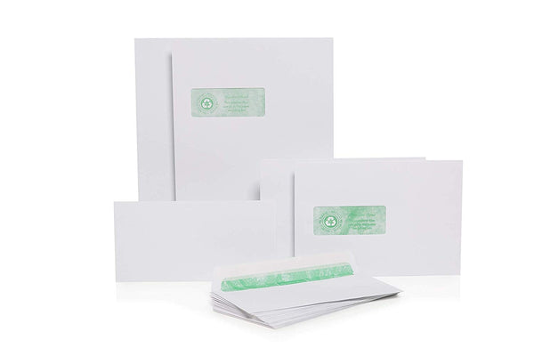 Basildon Bond C5 White Windowed Peel & Seal Envelopes 500's