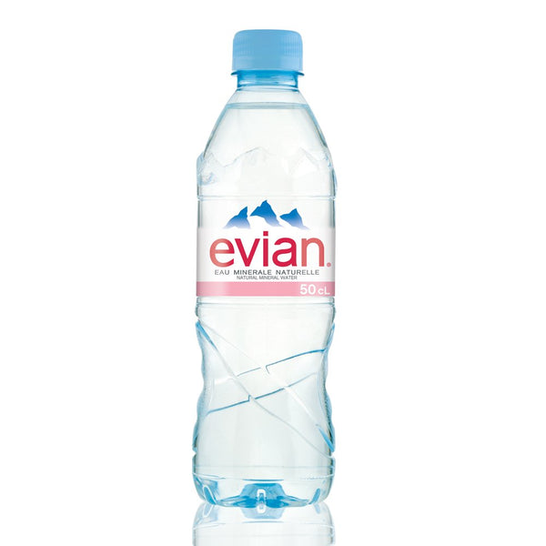 Evian Bottled Water 24 x 500ml (Plastic Bottle)