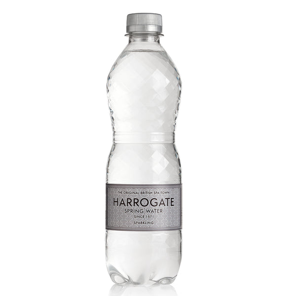 Harrogate Sparkling Spring Water 500ml Plastic Bottle (Pack of 24)