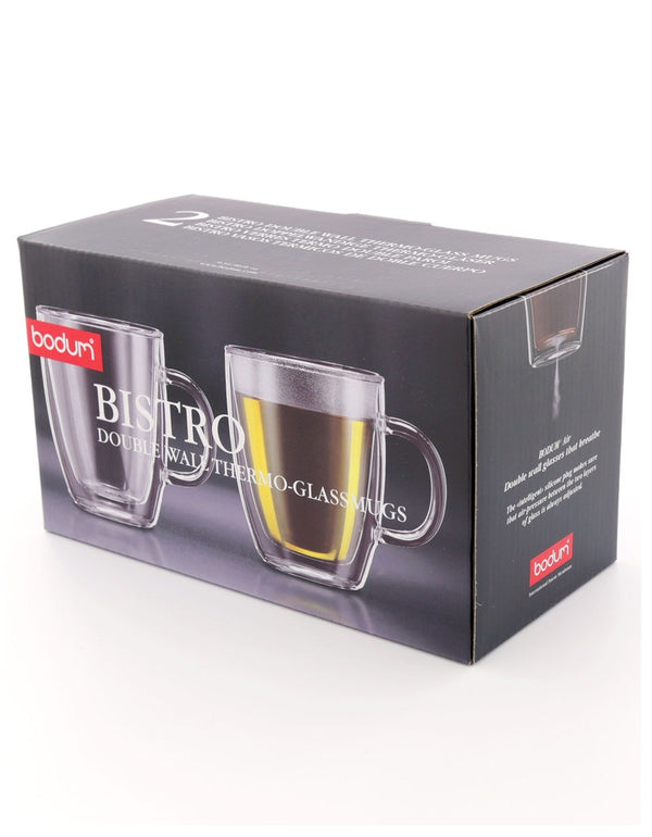 Bodum Bistro Double Walled Mug 0.3 Litre Pack 2's