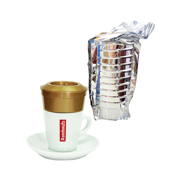 Rombouts Medium Roast Individual Coffee & Filters 10
