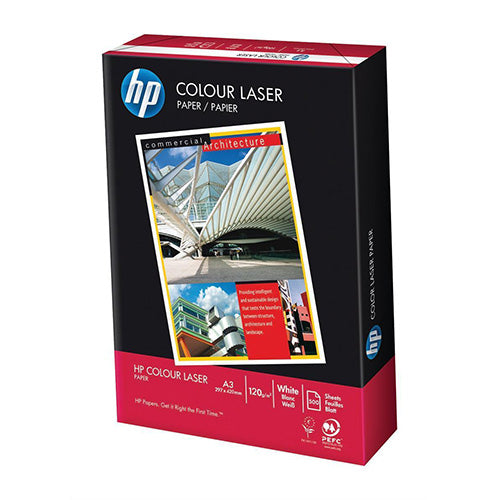 HP A3 120gsm Paper Colour Laser White 250 Sheets