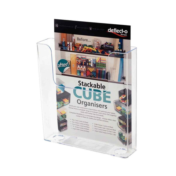Deflecto A5 Portrait Flat Back Literature Holder