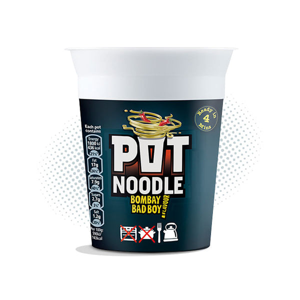 Pot Noodle Bombay Bad Boy Flavour 12x90g