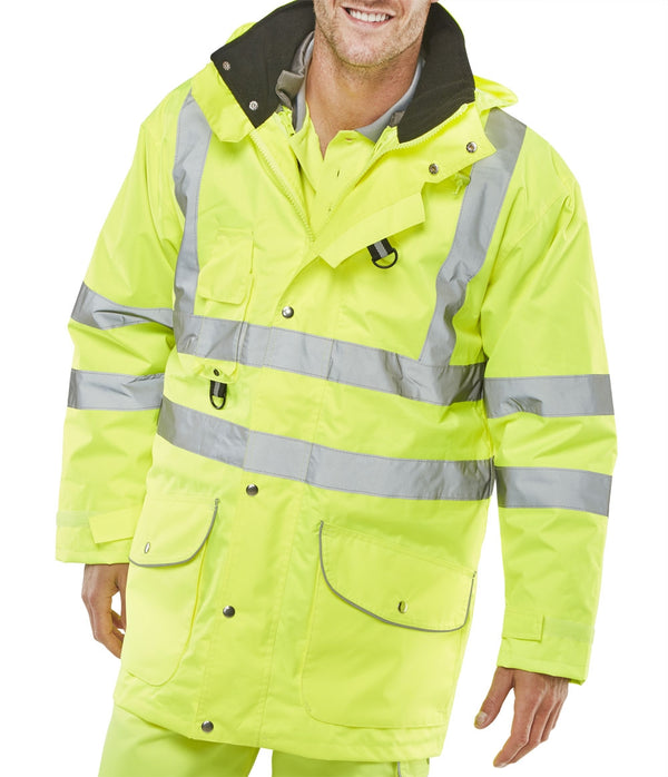 Bseen Elsener 7 in 1 High Visibility Yellow Jacket