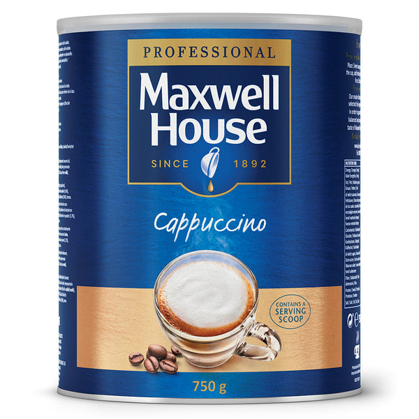 Maxwell House Instant Cappuccino 750g (Full Pack 4's)