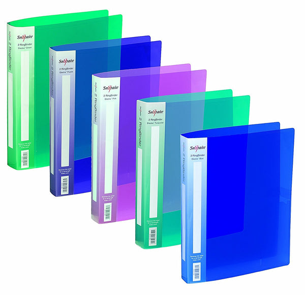 Snopake Electra A4 Assorted Ring Binders