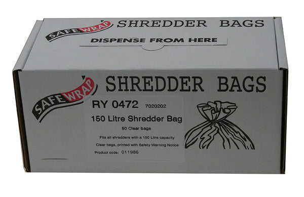Safewrap 150 Litre Shredder Bags (Pack 50)