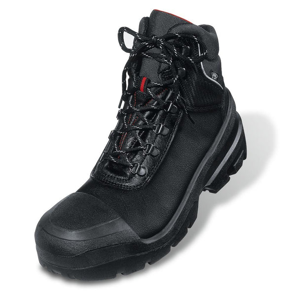 Uvex Quatro Leather Safety Boot Black Size { All Sizes}