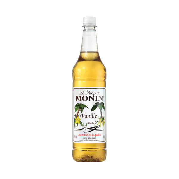 Monin Vanilla Coffee Syrup 1 Litre (Plastic) (Full Pack 6's)