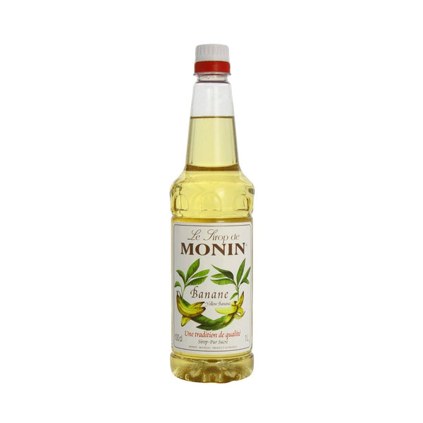 Monin Yellow Banana Coffee Syrup 1 Litre (Plastic) (Full Pack 6's)