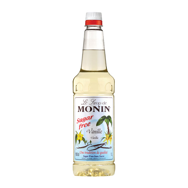 Monin Sugar Free Vanilla Coffee Syrup 1 Litre (Plastic) (Full Pack 6's)
