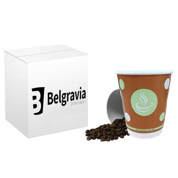 8oz Belgravia Biodegradable Double Walled Cups (500's)