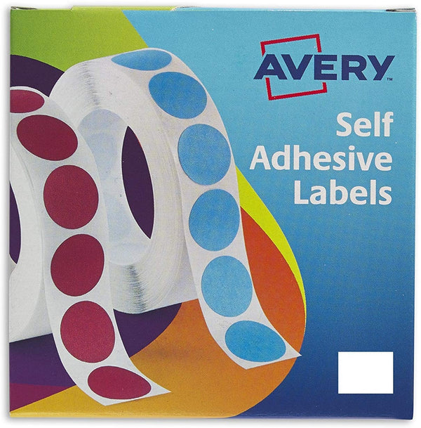 Avery 24-421 19mm White Labels Pack 1200's