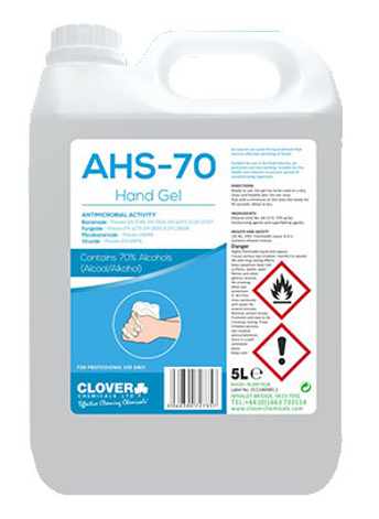 AHS Alcohol Hand Sanitiser Gel 5 Litre (70% Medical Grade)