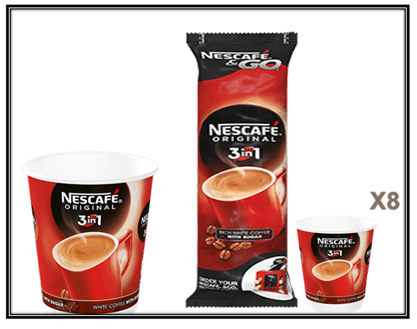 Nescafe &Go! 3in1 Cups 1 x 8's (12oz)