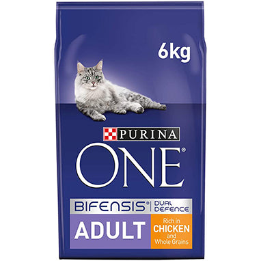 Purina ONE Adult Dry Cat Food Chicken & Wholegrains 6kg