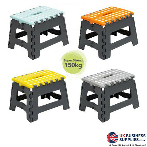 Wham Small Folding Step Stools Assorted Colour