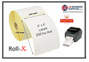 Roll-X Universal Shipping Labels 6x4inch 250 Per Roll