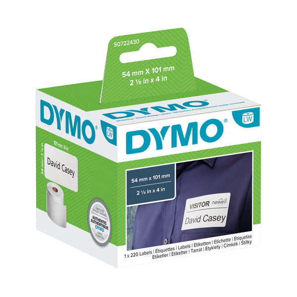 Dymo Labelwriter White Labels 54x101mm Pack 220's
