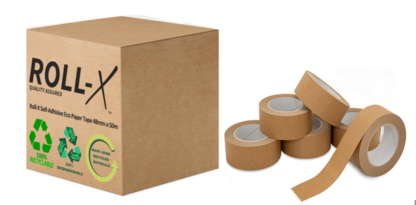 Brown Kraft Eco Paper Self Adhesive Tape 48mm x 50m {24 Full Pack Offer}