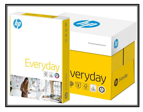 HP Everyday A4 Paper - White - 75gsm - Box (5 x 500 Sheets)