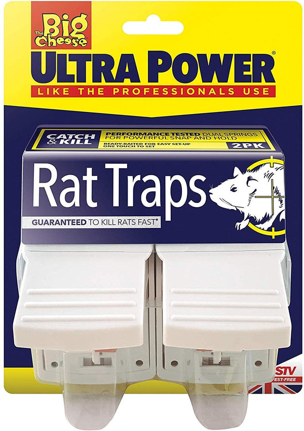 Big Cheese Ultra Power Rat Traps Twinpack (STV149)