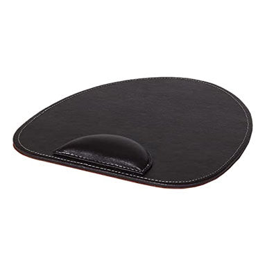 Osco Brown Faux Leather Mouse Pad