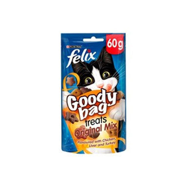 Felix Goody Bag Cat Treats Original Mix 8 x 60g