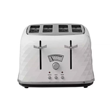 Delonghi White Brillante 4 Slice Toaster