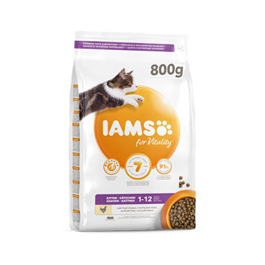 IAMS for Vitality Kittens Cat Food Food Fresh Chicken 800g