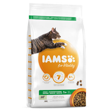 IAMS for Vitality Adult Cat Food Lamb 10kg