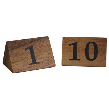 Zodiac Naturals Wooden Table Numbers 1-10