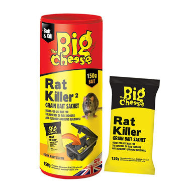 Big Cheese Rat Killer Grain Bait Sachet 150g