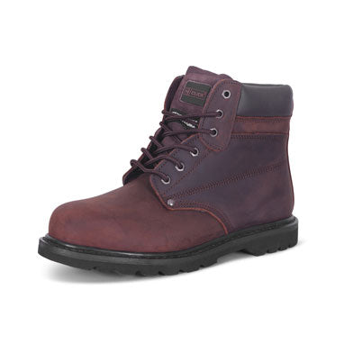 B-Click Footwear Goodyear Brown Welt Boots (All Sizes)