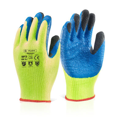 B-Flex Latex Thermo-Star Fully Dipped Yellow Gloves All Sizes (Pair)