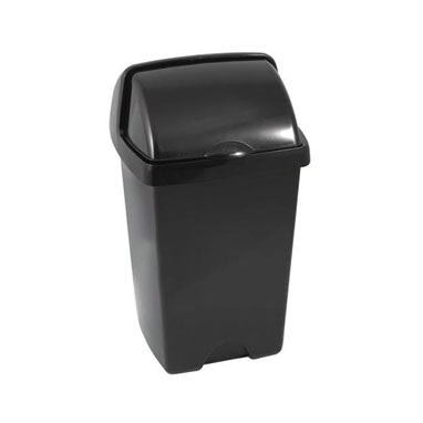 Addis Black Roll Top Bin 25 Litre
