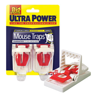 Big Cheese Ultra Power Mouse Traps Twinpack (STV148)