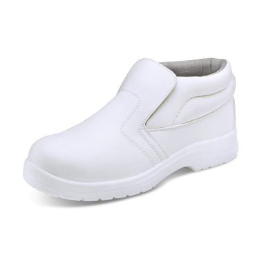 B-Click White Workwear Anti-Static Micro Fibre Boots (All Sizes)