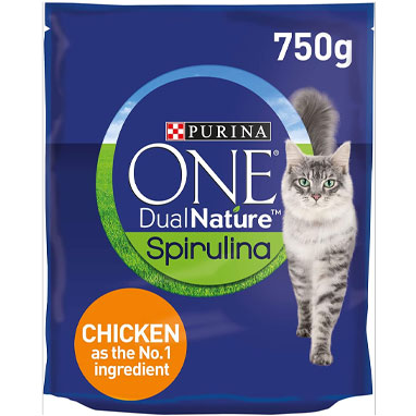Purina ONE Dual Nature Dry Cat Food With Chicken 4 x 750g [Full Case}