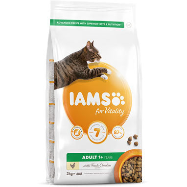 IAMS for Vitality Adult Dry Cat Food Fresh Chicken 2kg
