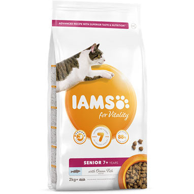 IAMS for Vitality Senior Dry Cat Food Ocean Fish 2kg