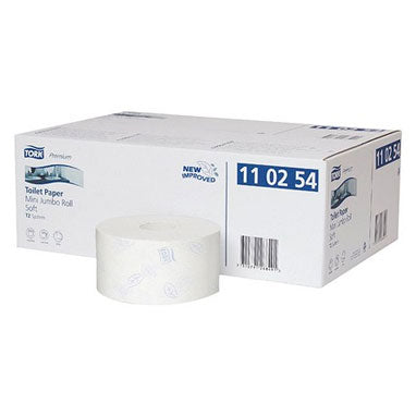 Tork T2 2 Ply Mini Jumbo Toilet Roll Pack 12's