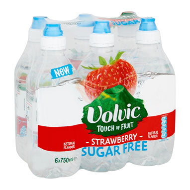 Volvic Sugar Free Touch of Fruit Strawberry 6x750ml Sportscap