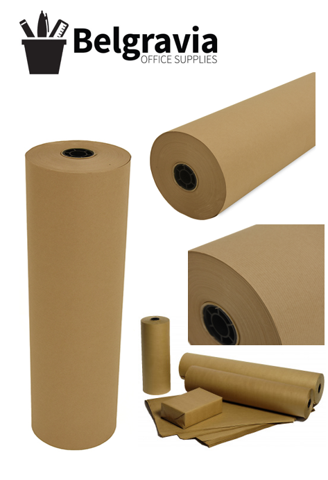 Belgravia Kraft Wrapping/Packaging Paper Rolled 600mm x 250m (Brown)