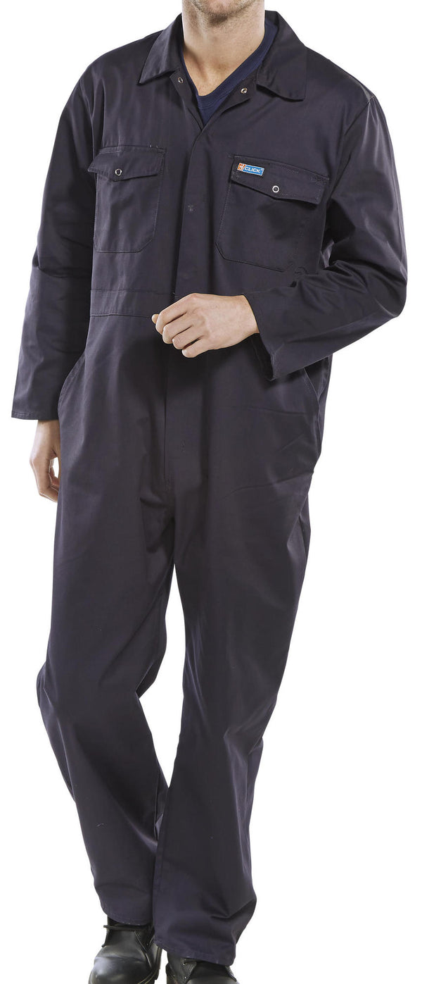 B-Click Workwear Navy Boilersuit