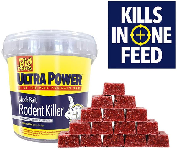 The Big Cheese Ultra Power Block Killer Station Bait Refills, Red, 15 x 20g {STV568}
