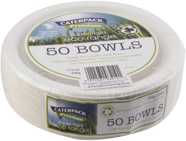 "Caterpack 7"" Biodegradable & Compostable Bowl {50 Pack}"