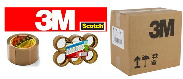 3M Scotch Premium Packaging Tape Buff 48mmx66m Pack 36 Roll's {Full Box}