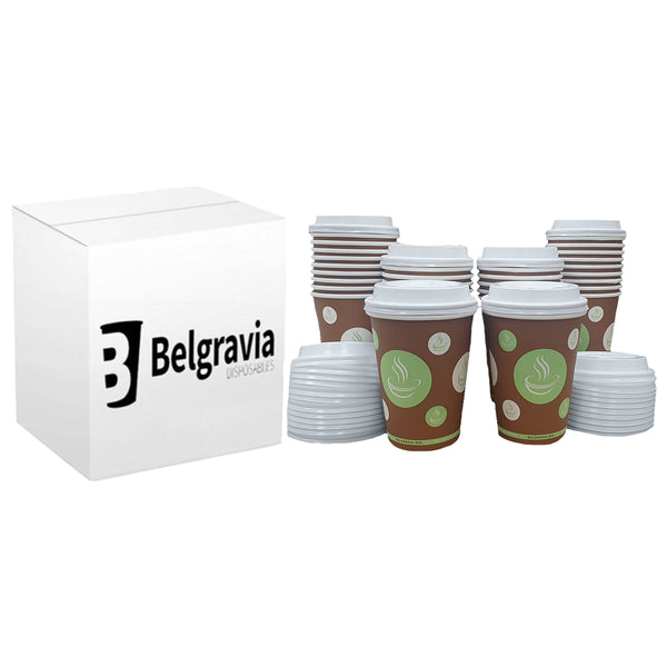 12oz Belgravia Biodegradable & Compostable Single Walled Paper Cups (50s)